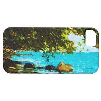 Hanalei Bay Kauai Hawaii Abstract Case For The iPhone 5
