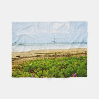Hanalei Bay Kauai Hawaii Beach & Boats Fleece Blanket