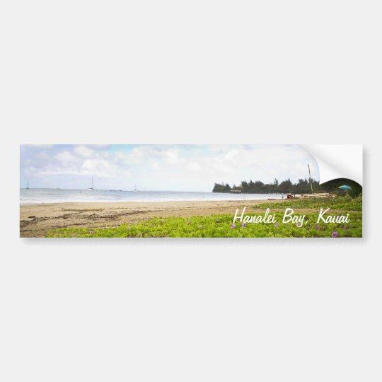 Hanalei Bay, Kauai Hawaii Limited Print Bumper Sticker