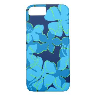 Hanalei Hawaiian Hibiscus Floral Blue iPhone 8/7 Case