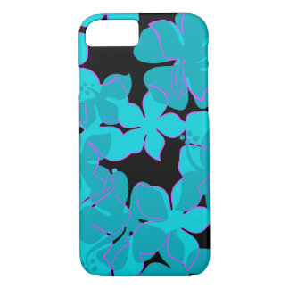 Hanalei Hawaiian Hibiscus Floral Teal iPhone 8/7 Case