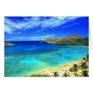 Hanauma Bay Beach Aloha! Greeting Card