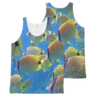 Hanauma Bay Hawaii Butterfly Fish All-Over Print Tank Top