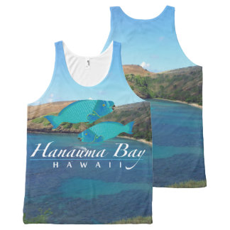 Hanauma Bay Hawaii Parrot Fish All-Over Print Tank Top
