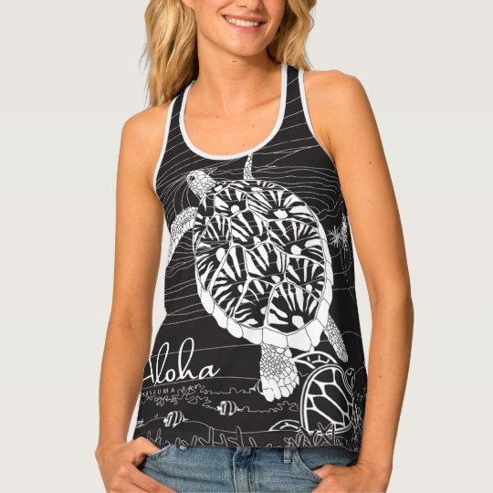 Hanauma Bay Hawaii Sea Turtle Tank Top