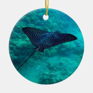 Hanauma Bay Hawaii Spotted Eagle Ray Christmas Ornament