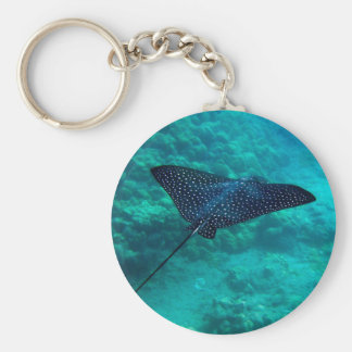 Hanauma Bay Hawaii Spotted Eagle Ray Key Ring