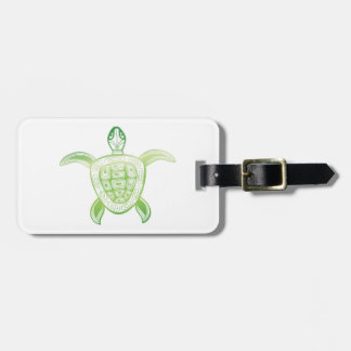 Hanauma Bay Hawaii Turtle Luggage Tag