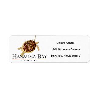 Hanauma Bay Hawaii Turtle Return Address Label