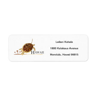 Hanauma Bay Hawaii Turtles - Honu Return Address Label