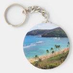 Hanauma Bay, Honolulu, Oahu, Hawaii View Basic Round Button Key Ring