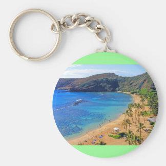 Hanauma Bay, Honolulu, Oahu, Hawaii View Key Ring