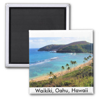 Hanauma Bay, Honolulu, Oahu, Hawaii View Square Magnet