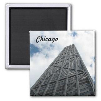 Hancock Building- Chicago Square Magnet