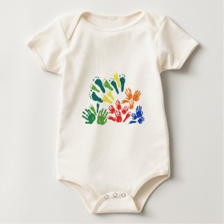 Hand and foot floral baby bodysuit
