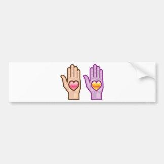 Hand and Heart vector Bumper Sticker