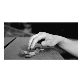 Hand and stones foto karten