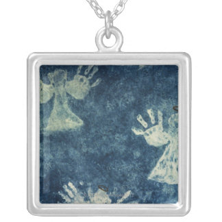 Hand Angels Silver Plated Necklace