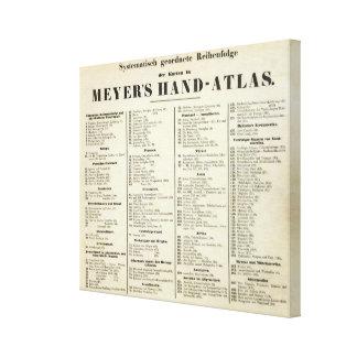 Hand Atlas Title Page Canvas Print