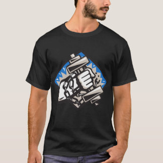 Hand Bursting With Dumbbell In Chains T-Shirt
