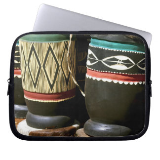 Hand carved drums, Livingston, Zambia Laptop Sleeve