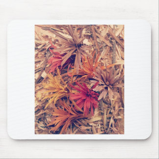 Hand carved wooden Forever flowers Mouse Pad