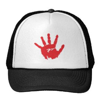 Hand casting hand print trucker hat