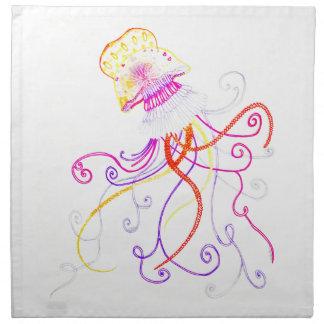Hand Designed Jellyfish Cloth Napkin