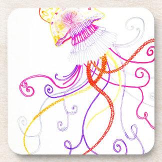 Hand Designed Jellyfish Coaster