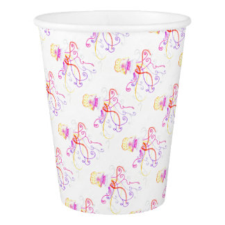 Hand Designed Jellyfish Paper Cup