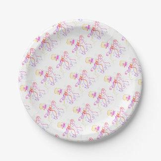 Hand Designed Jellyfish Paper Plate