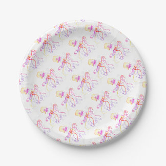 Hand Designed Jellyfish Paper Plate 7 Inch Paper Plate