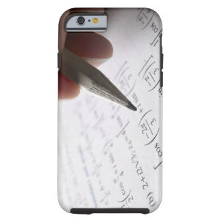 Hand doing math homework tough iPhone 6 case