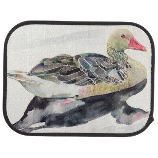 Hand Draw Watercolor Bird, Duck Car Mat