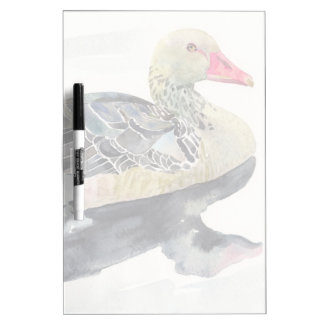 Hand Draw Watercolor Bird, Duck Dry Erase Board