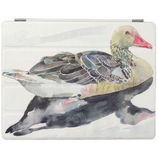 Hand Draw Watercolor Bird, Duck iPad Cover