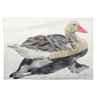 Hand Draw Watercolor Bird, Duck Placemat