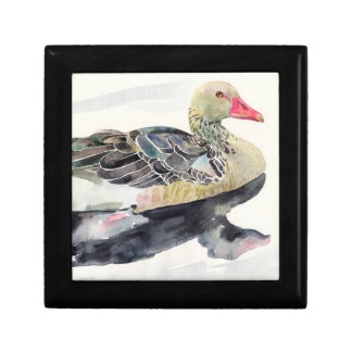Hand Draw Watercolor Bird, Duck Small Square Gift Box