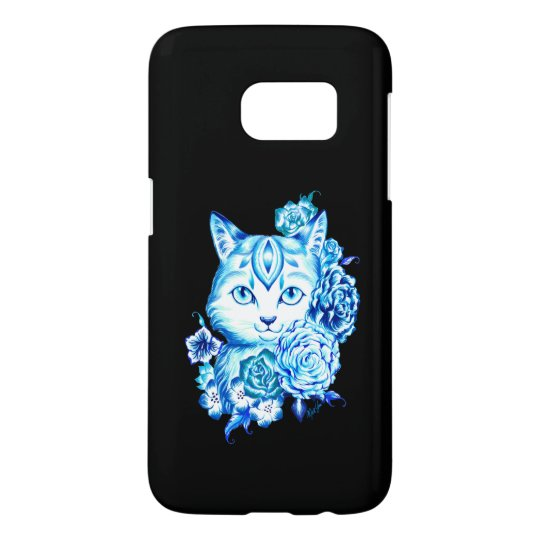 Hand Drawn 10 Blues Cat Samsung Galaxy S7
