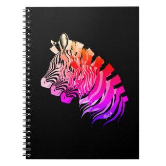 Hand Drawn 3-in-1 Sunset Zebra Art Notebook