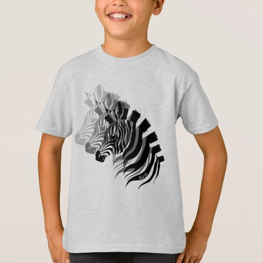 Hand Drawn 3-in-1 Zebra Art Kid's T-shirt