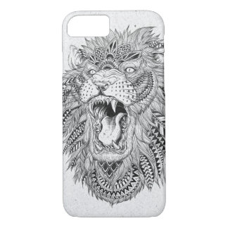 Hand Drawn Abstract Lion Vector Illustration iPhone 7 Case