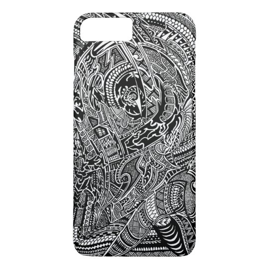 Hand-drawn Abstract Tribal Crazy Doodle iPhone 7 Plus Case