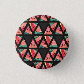 Hand Drawn Abstract Watermelon Pattern 3 Cm Round Badge