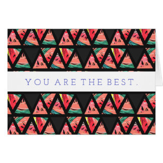 Hand Drawn Abstract Watermelon Pattern Card