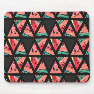 Hand Drawn Abstract Watermelon Pattern Mouse Mat