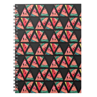 Hand Drawn Abstract Watermelon Pattern Notebook