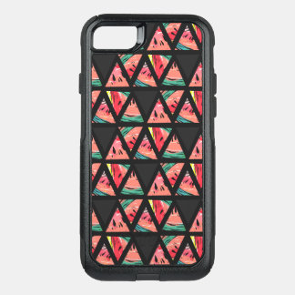 Hand Drawn Abstract Watermelon Pattern OtterBox Commuter iPhone 8/7 Case