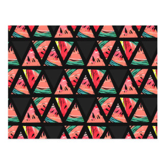 Hand Drawn Abstract Watermelon Pattern Postcard