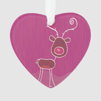Hand drawn acrylic Heart : pink